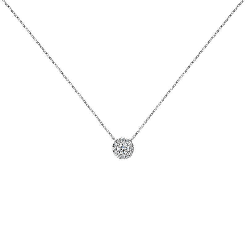 White gold necklace edging diamond 0,10 ct, J04221-01-10-06, hi-res
