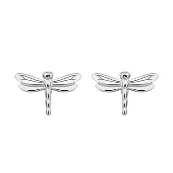 Boucles d'oreilles libellule argent, J03180-01, hi-res