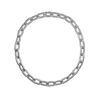 Silver rectangular forza necklace, J00900-01-85, hi-res