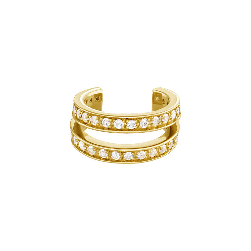 Gold plated  double hoop cartilage piercing, J04085-02-WT, hi-res