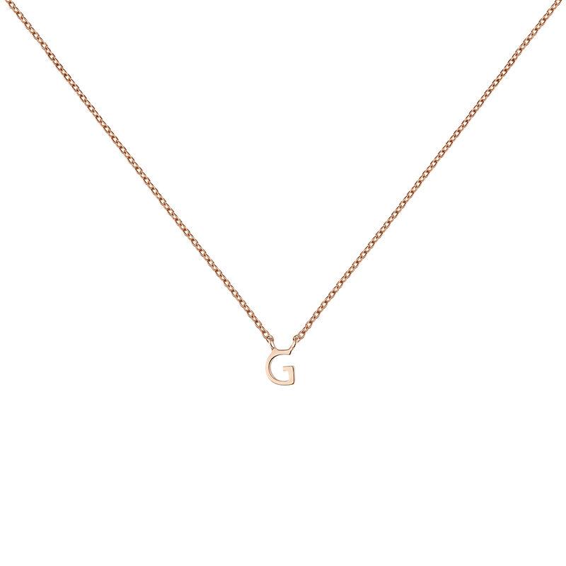 Collar inicial G oro rosa, J04382-03-G, hi-res