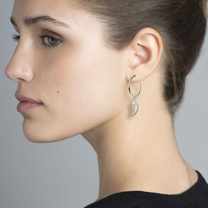 Hoop earrings cashmere silver, J04131-01-BSN, hi-res