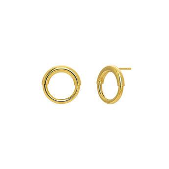Small gold hoop earrings, J03651-02, hi-res
