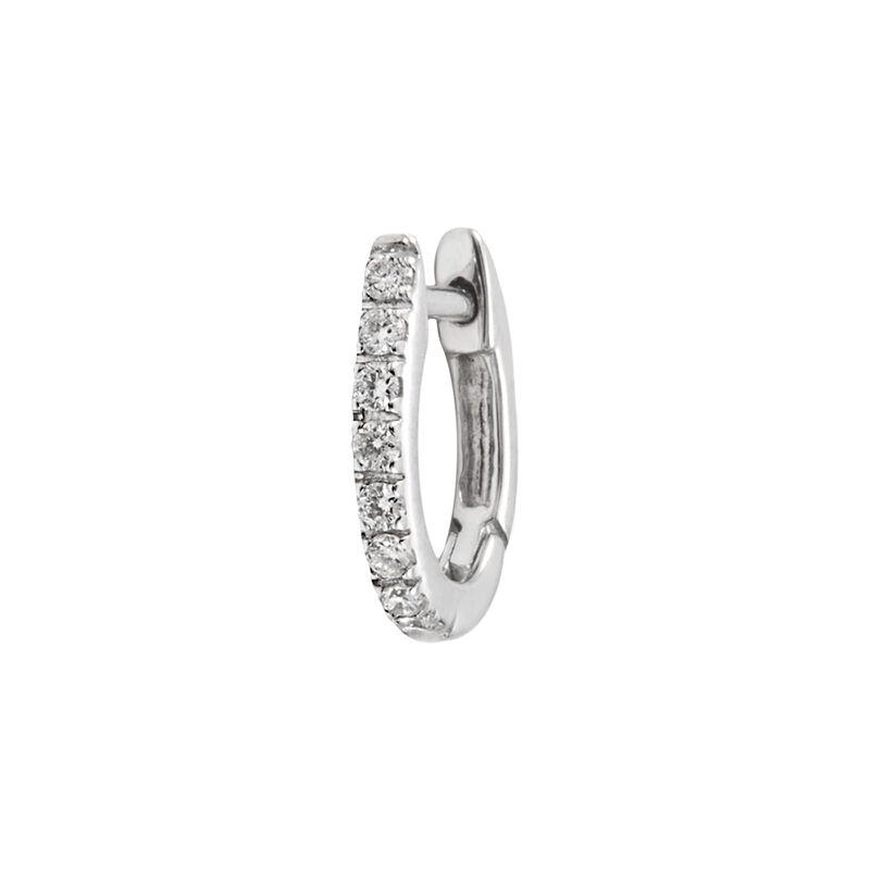 Pendiente aro mini diamante oro blanco 0,08 ct, J00597-01-NEW-H, hi-res