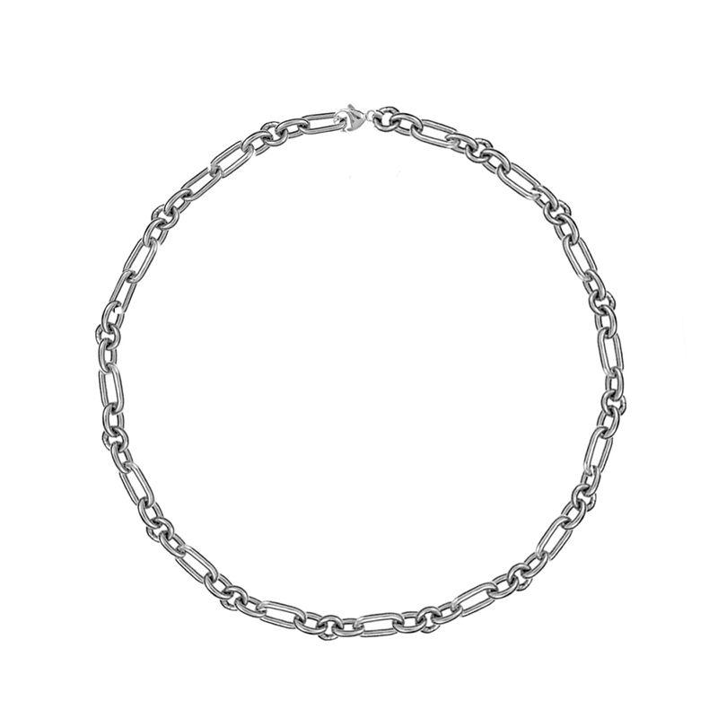 Cadena forzá mix eslabones plata, J01336-01, hi-res