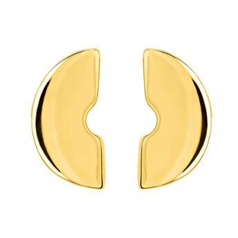 Boucles d'oreilles petites sculptures or, J03522-02, hi-res