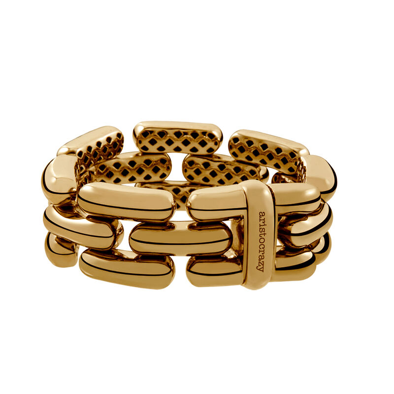 Small gold plated panther bracelet, J00054-02-PQ, hi-res