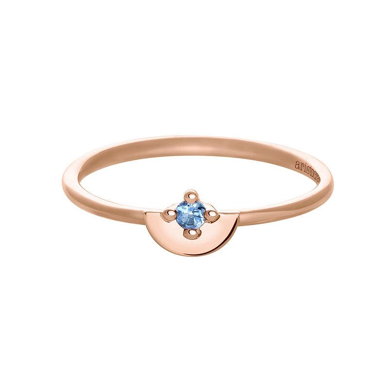 Anillo topacio semicírculo plata recubierta oro rosa, J03742-03-LB, hi-res