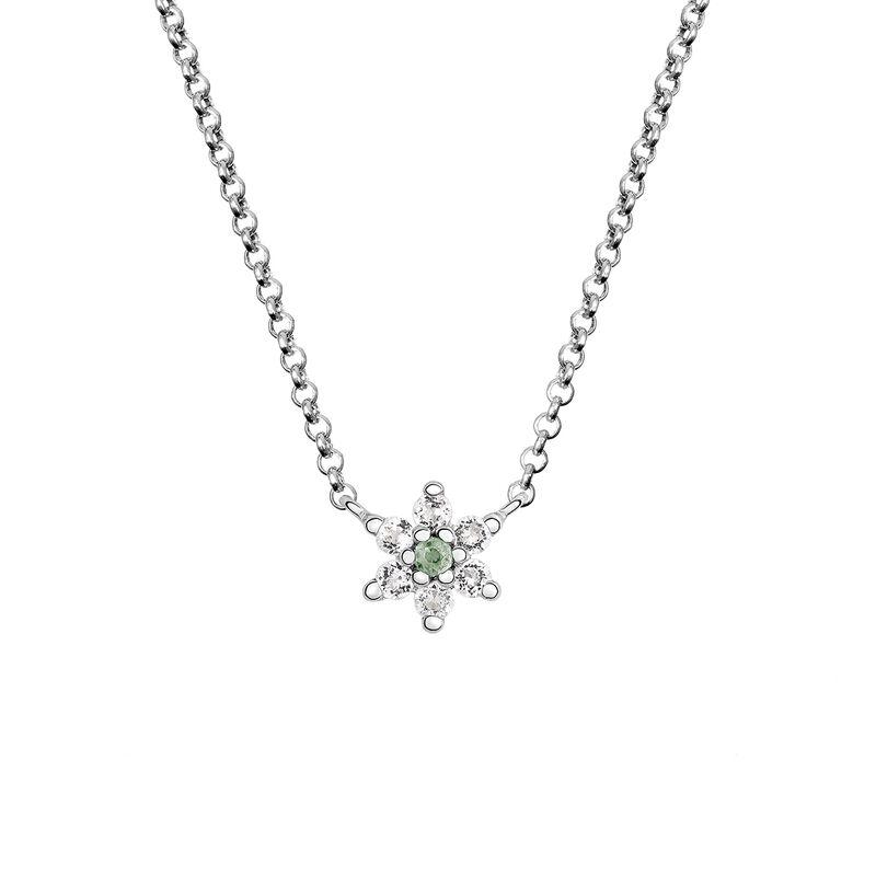 Colgante flor zafiro verde plata, J03333-01-GS-WT, hi-res