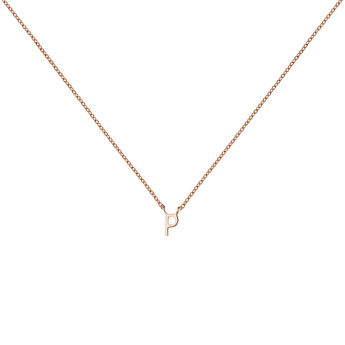 Rose gold Initial P necklace, J04382-03-P, hi-res