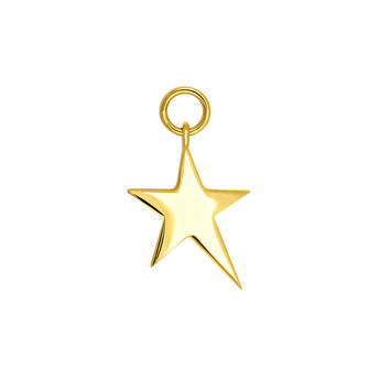 Gold asymmetric star necklace, J03777-02, hi-res