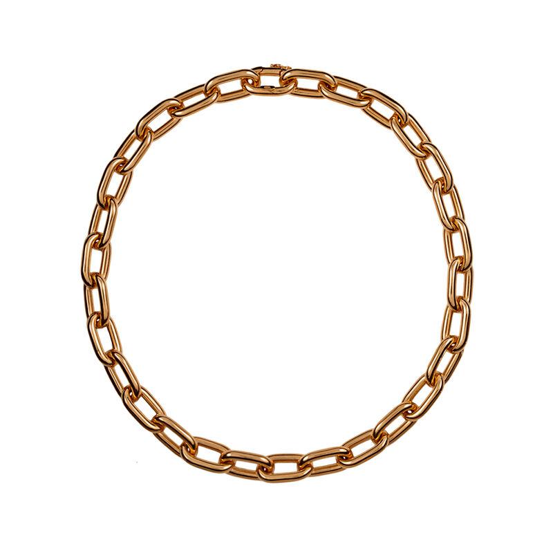 Collar forzá rectangular plata recubierta oro rosa, J00900-03-85, hi-res