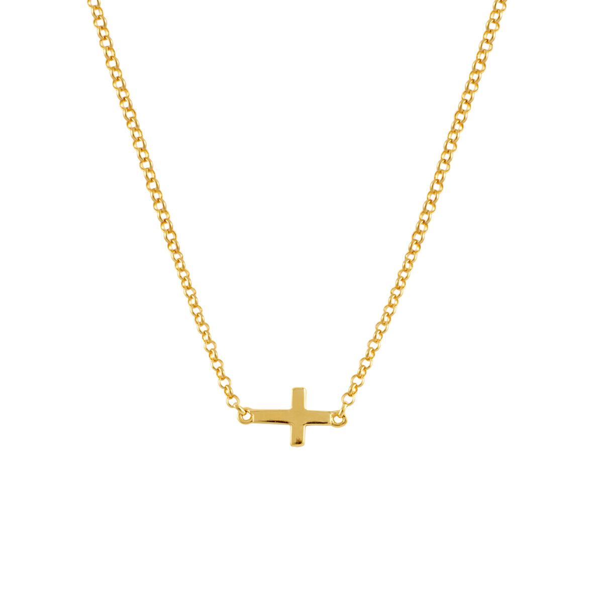 Colgante de cruz oro