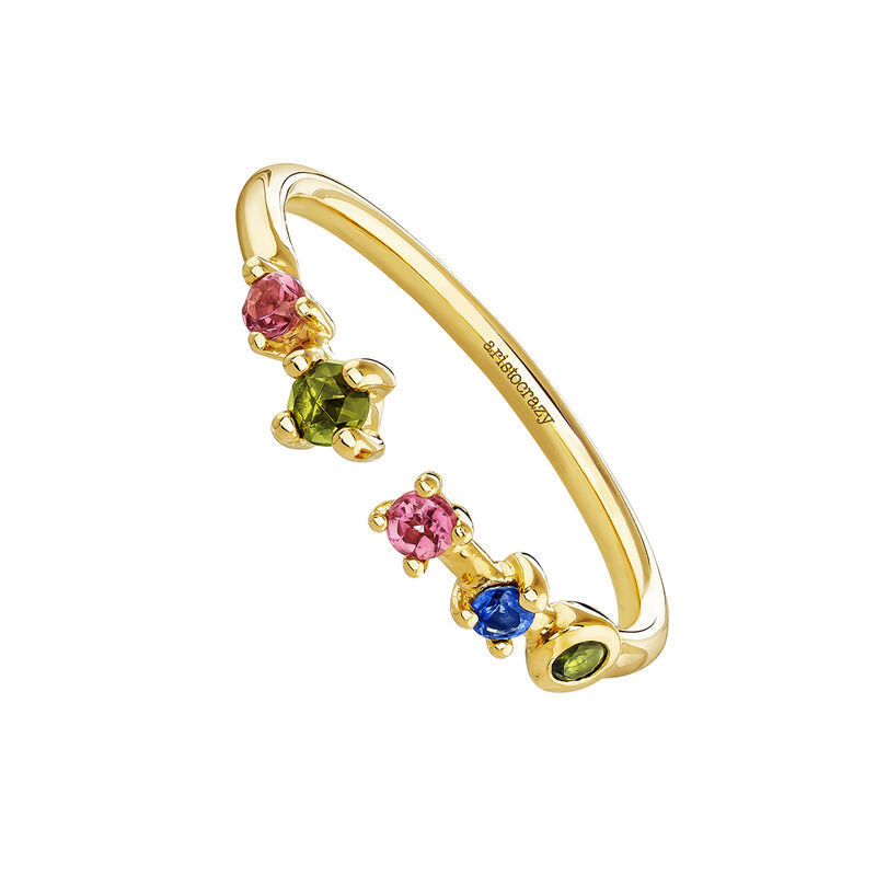 You and me tourmaline and sapphire ring, J04148-02-PTGTBS, hi-res