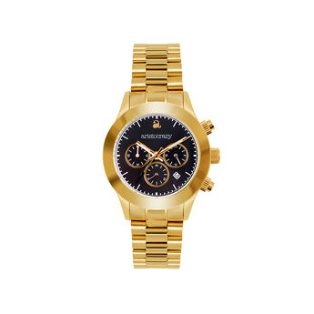 Soho watch gold bracelet black face., W29A-YWYWBL-AXYW, hi-res