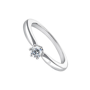 Bague diamant 0,25 ct or blanc, J00788-01-25-GVS, hi-res