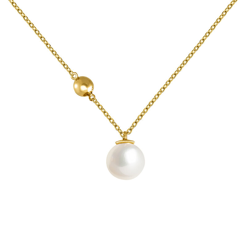 Large gold plated pearl pendant, J04024-02-WP, hi-res