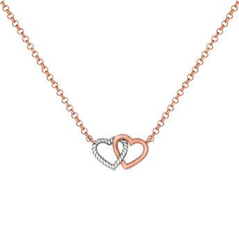 Colgante corazón doble plata , J03195-05, hi-res