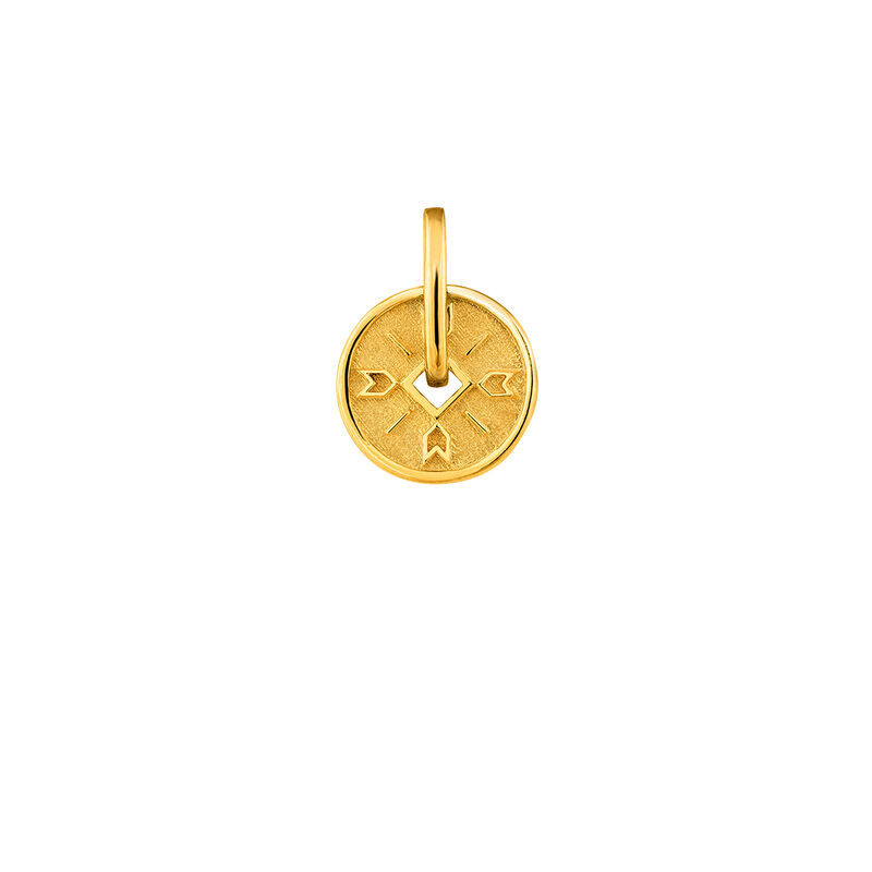Gold arrows medal pendant