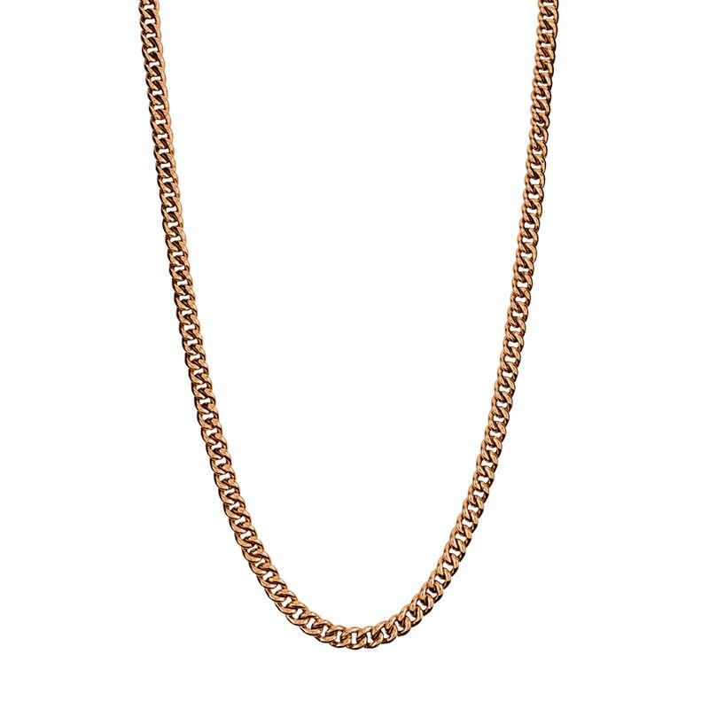 Cadena barbada corta oro rosa, J00491-03-65, hi-res