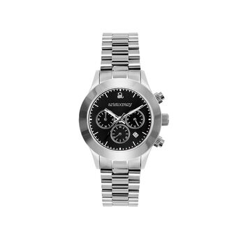 Soho watch bracelet black face., W29A-STSTBL-AXST, hi-res