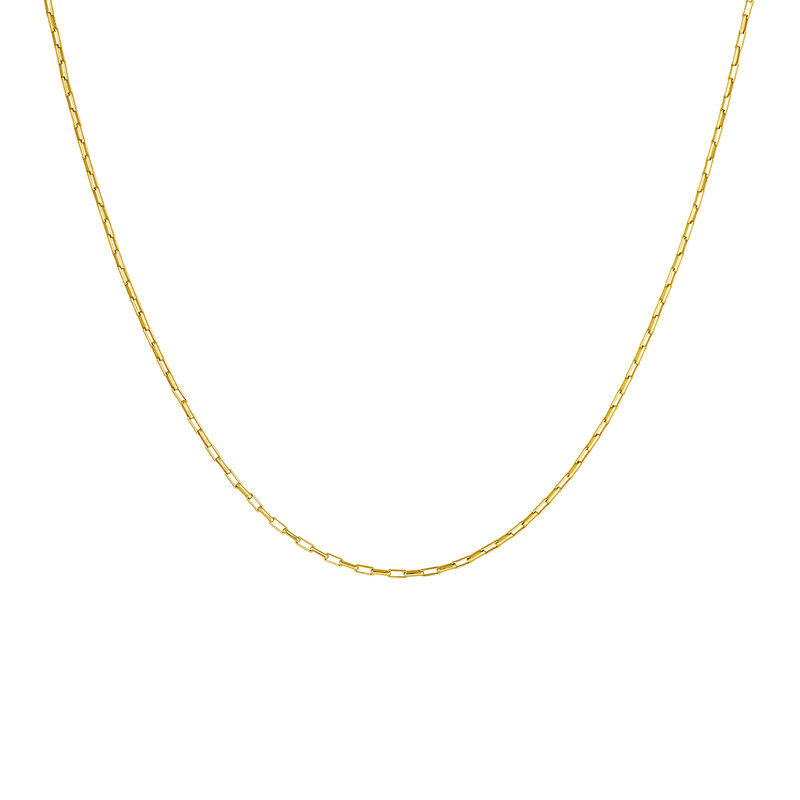 Gold-plated silver square link chain, J04615-02, hi-res