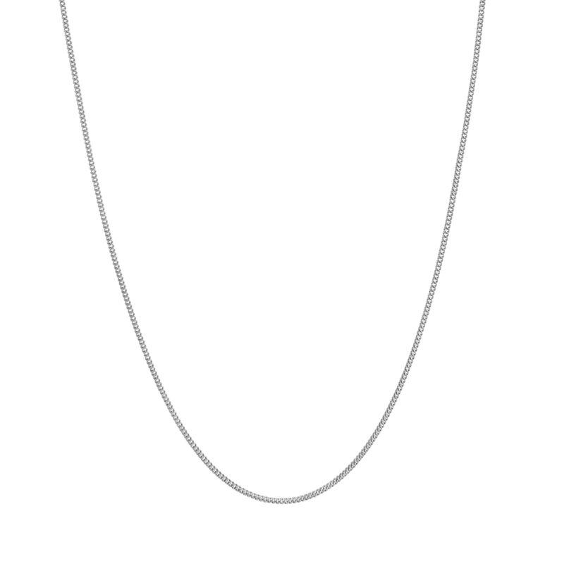 Cadena barbada fina corta plata, J01475-01-45, hi-res