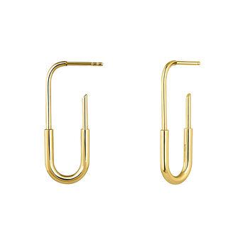 Pendientes eslabón oro amarillo, J04212-02, hi-res