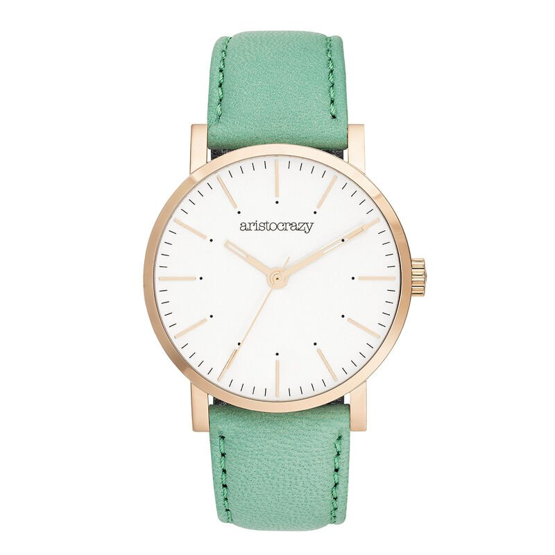 Montre Fillmore cuir turquoise