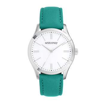 Mitte watch green strap, W41A-STSTWH-LEGE, hi-res