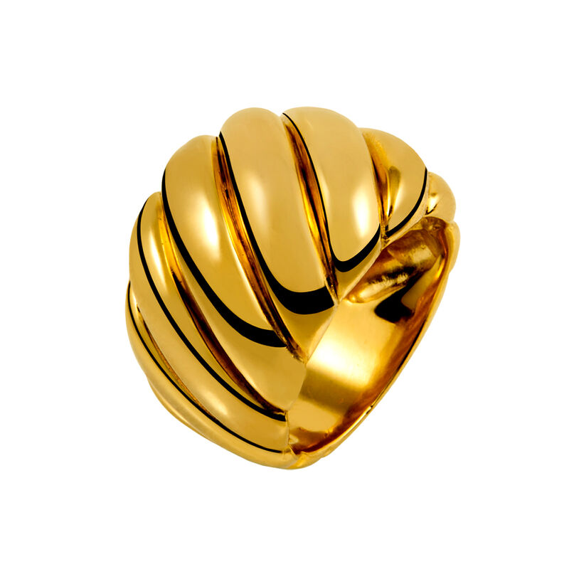 Gold large cabled ring, J01439-02, hi-res