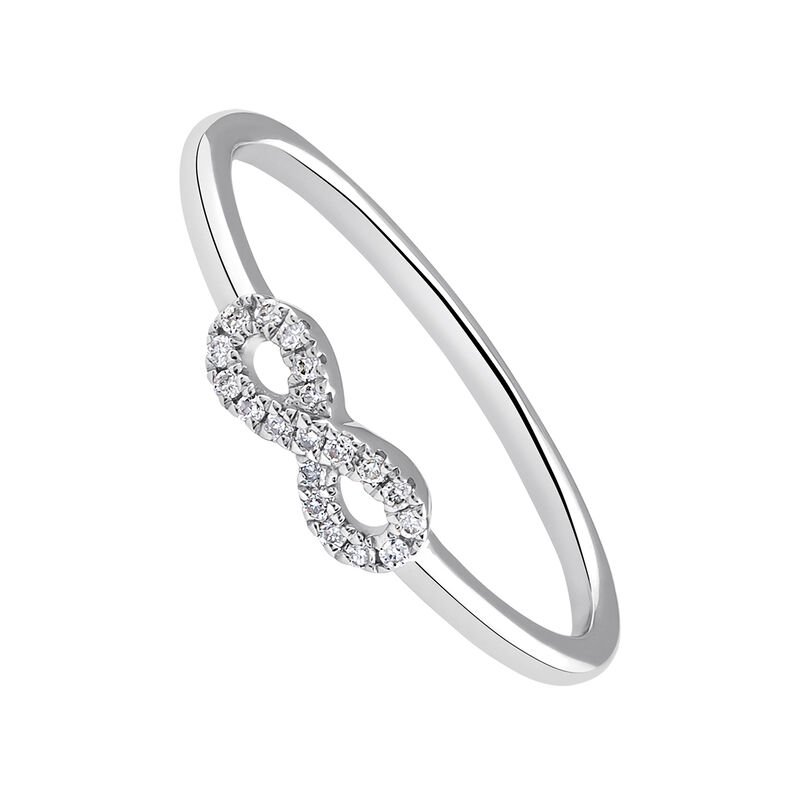 Anillo infinito oro diamantes 0,05 ct, J03019-01, hi-res
