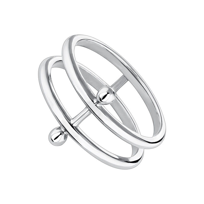 Anillo doble barra piercing plata, J04323-01, hi-res