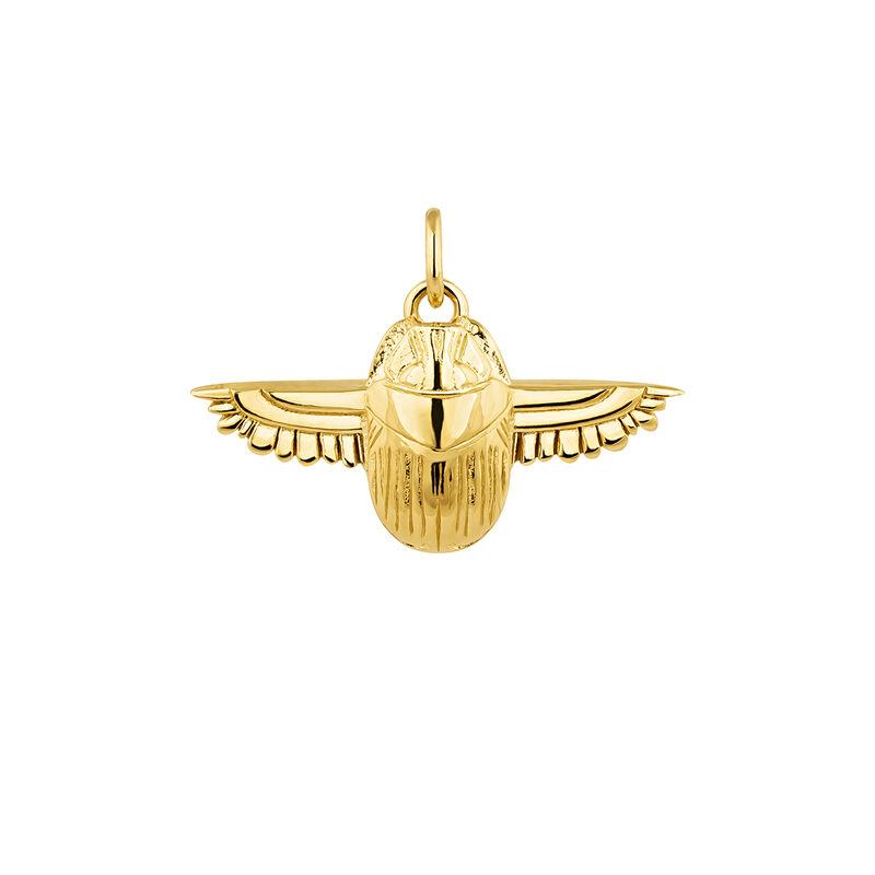 Egyptian  beetle necklace gold, J04268-02, hi-res
