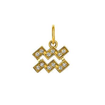 Aquarius gold pendant, J03601-02-WT, hi-res