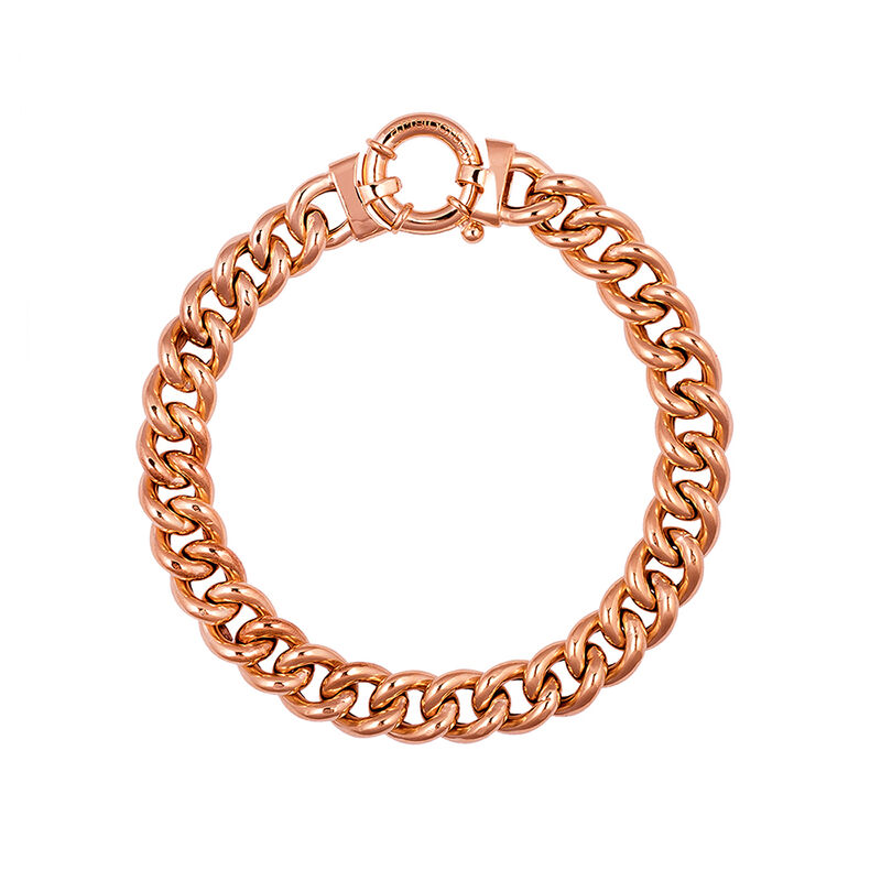 Mini rose gold plated barbed necklace, J01918-03-45, hi-res