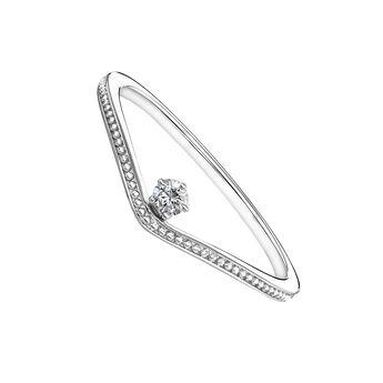 Bague courbée diamant or blanc 0,6 ct, J03931-01, hi-res