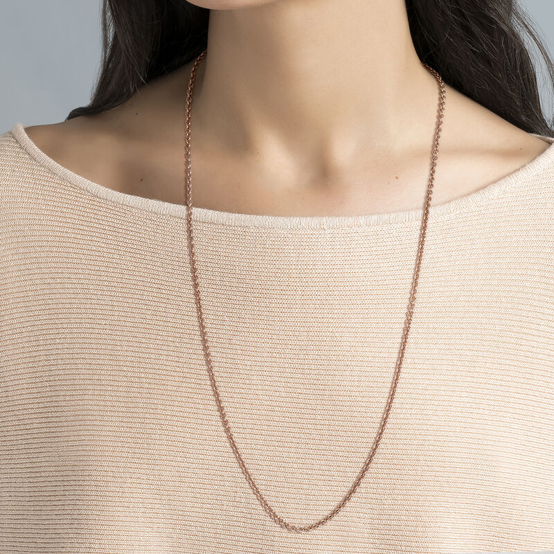 Rose gold long oval rolo chain, J00563-03-80, hi-res