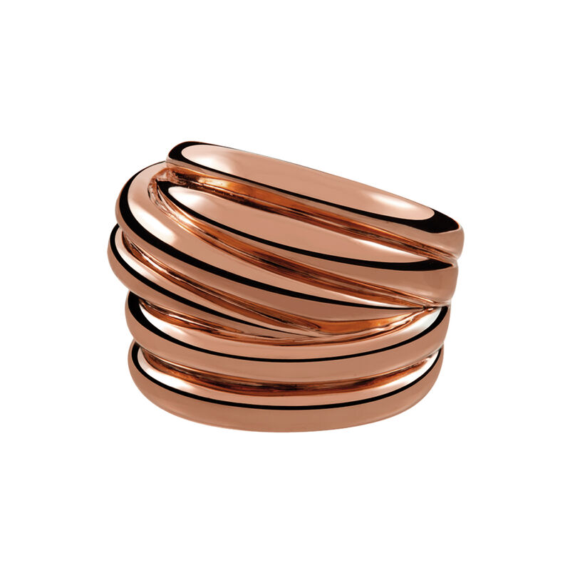 Rose gold plated multi-band ring, J01437-03, hi-res