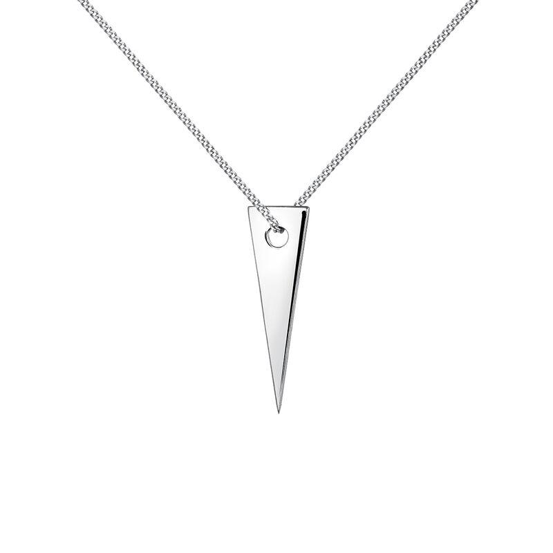 Silver triangle pendant, J03970-01, hi-res