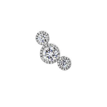 Pendiente tres diamantes oro blanco 9kt, J04482-01-H, hi-res