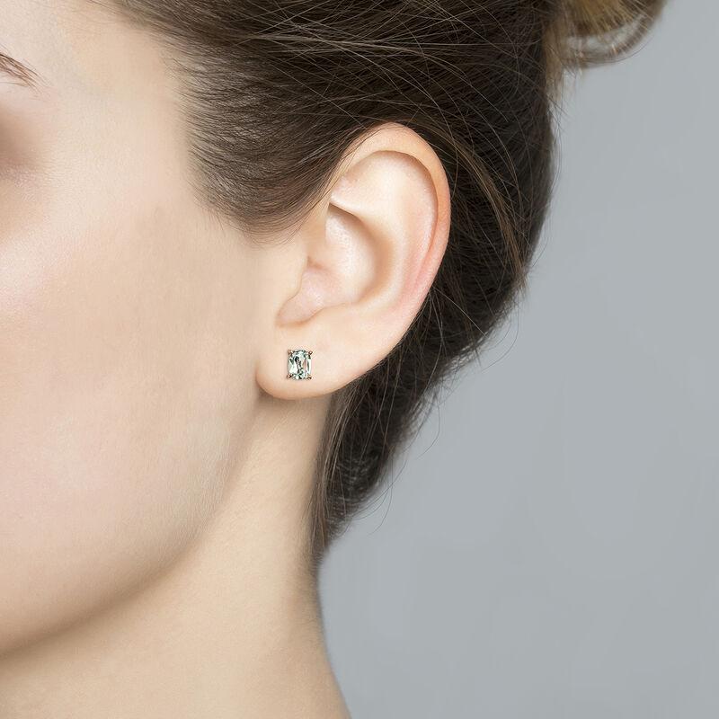 Boucles d'oreilles rectangulaires améthyste argent plaqué or rose, J03761-03-GAM, hi-res