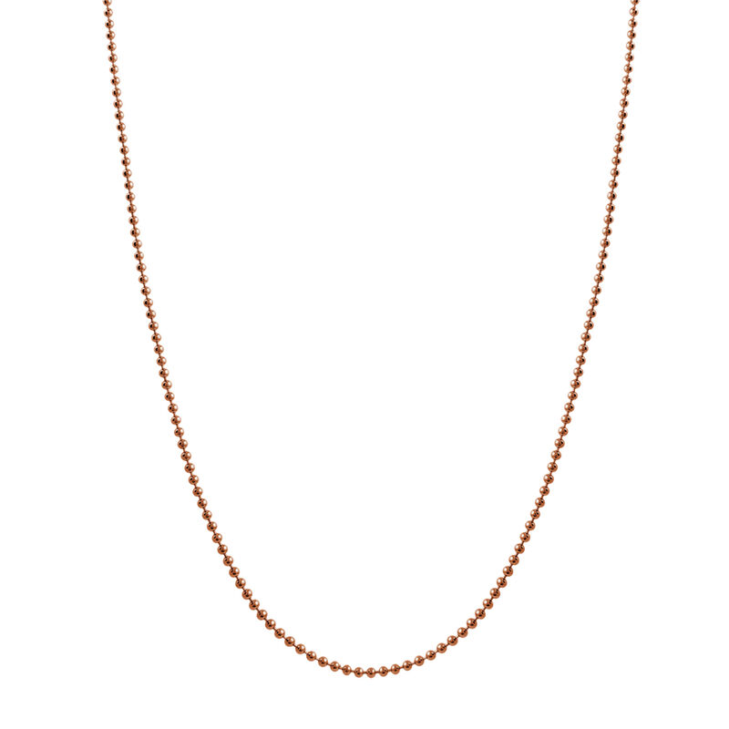 Cadena bolas larga plata recubierta oro rosa, J01474-03-80, hi-res