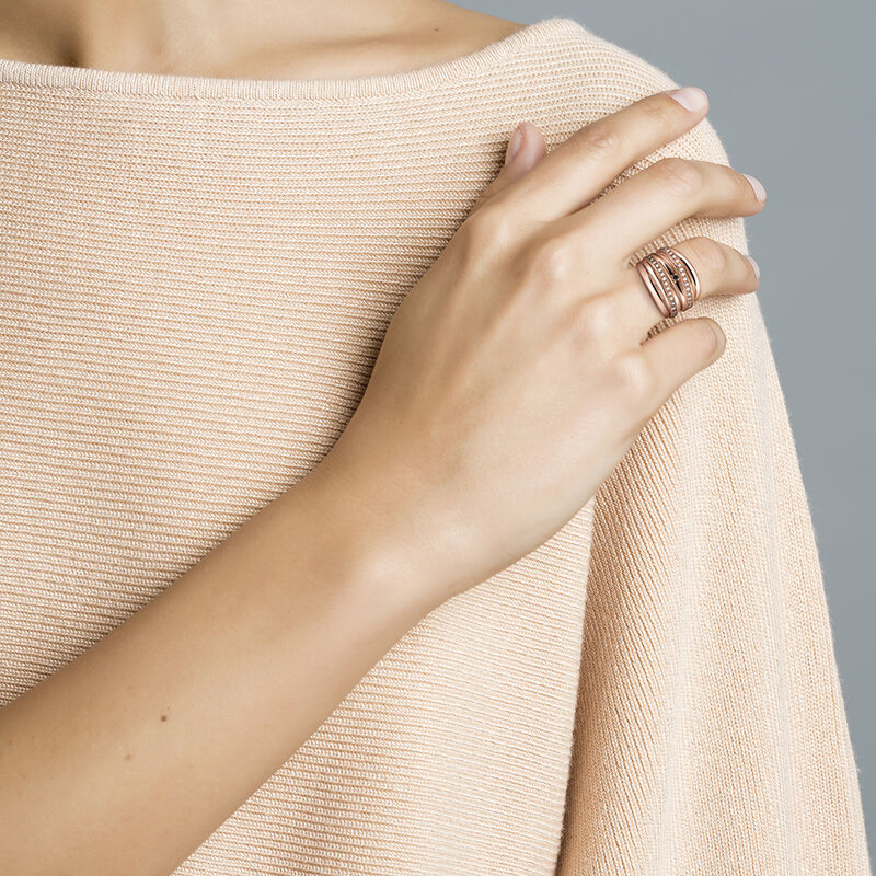 Rose gold maxi ring with spinels and topaz, J03352-03-WT-BSN, hi-res