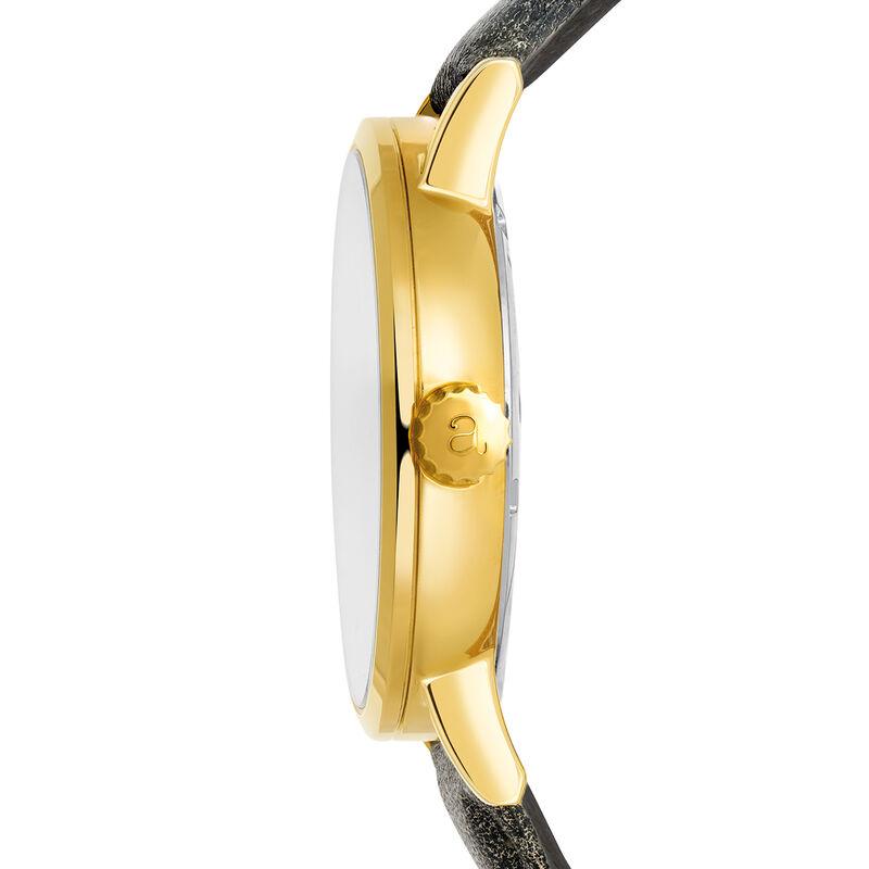 Montre Brooklyn bracelet cuir cadran jaune, W45A-YWYWYW-LEGR, hi-res
