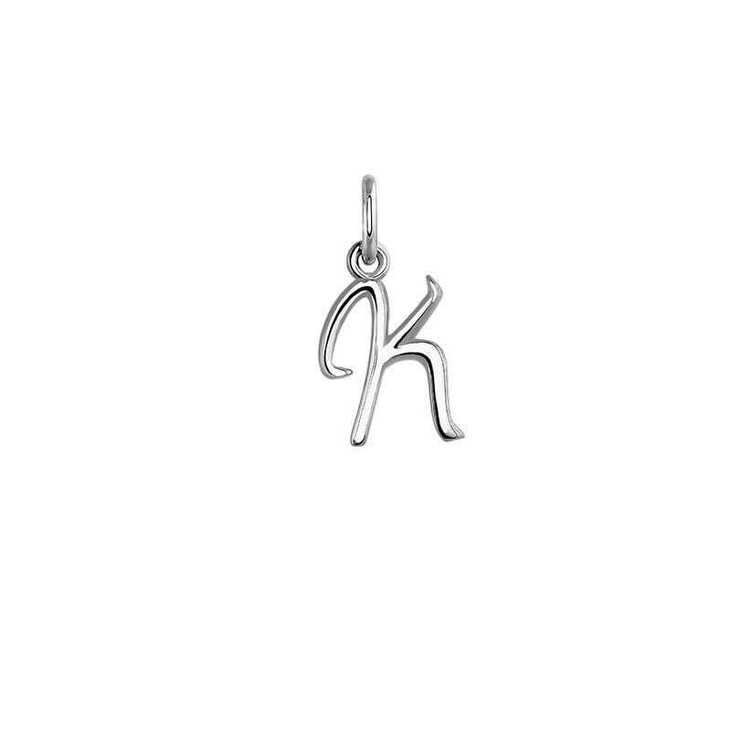 Silver initial K necklace, J03932-01-K, hi-res