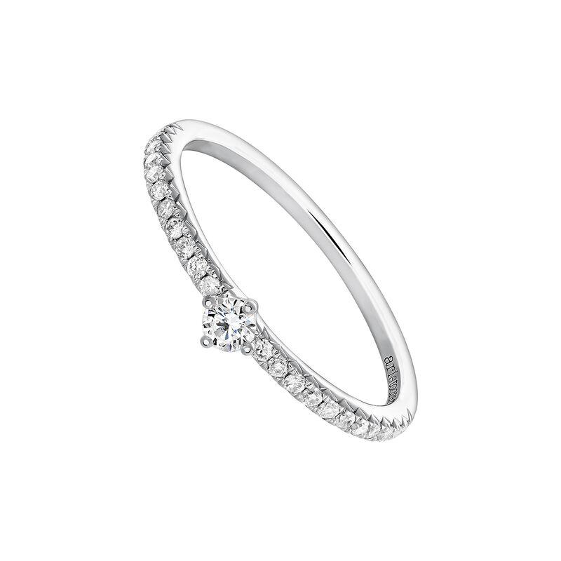 Bague solitaire avec halo diamants 0,08 or blanc, J03933-01-15-08, hi-res