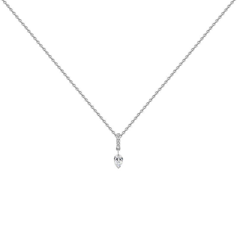 White gold diamonds necklace, J04432-01, hi-res