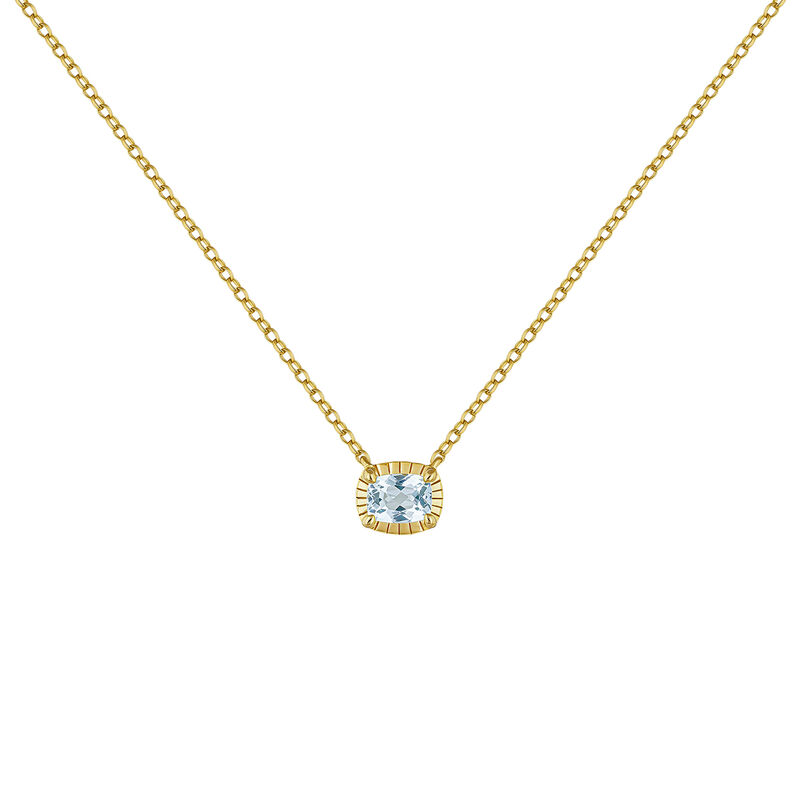 Gold plated blue topaz necklace, J04668-02-SKY, hi-res
