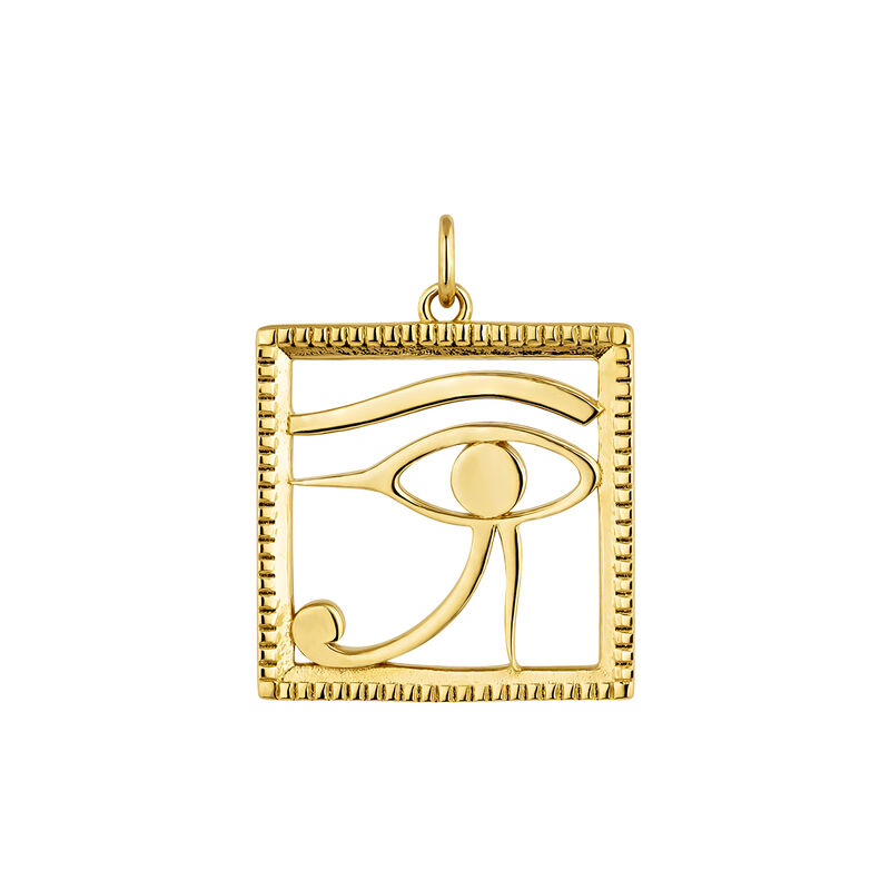 Egyptian Horus' eye necklace gold, J04272-02, hi-res